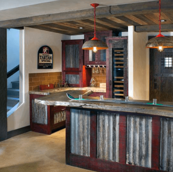 Tin Rustic Home Keller Bar Ideen