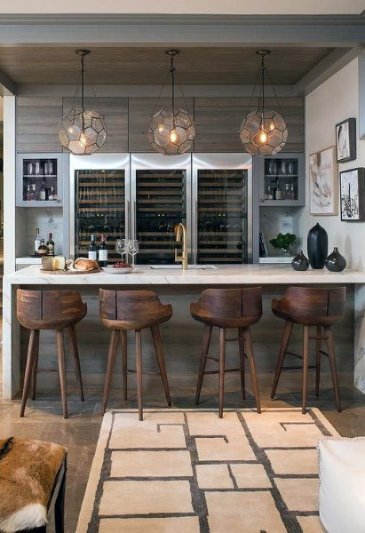 Luxus Home Bar mit rustikalem Design