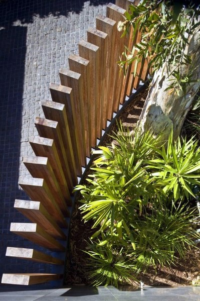 Ideas Wooden Fence Modern Square Vertical Boards