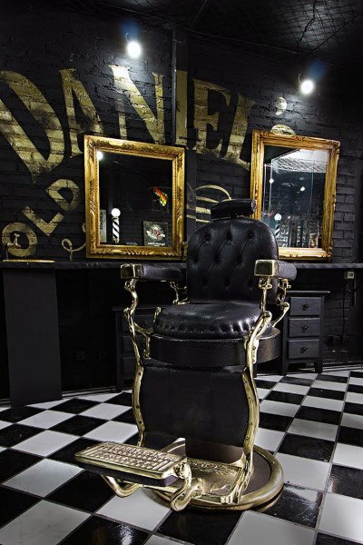 Barber Shop Awesome Black and Gold Designs