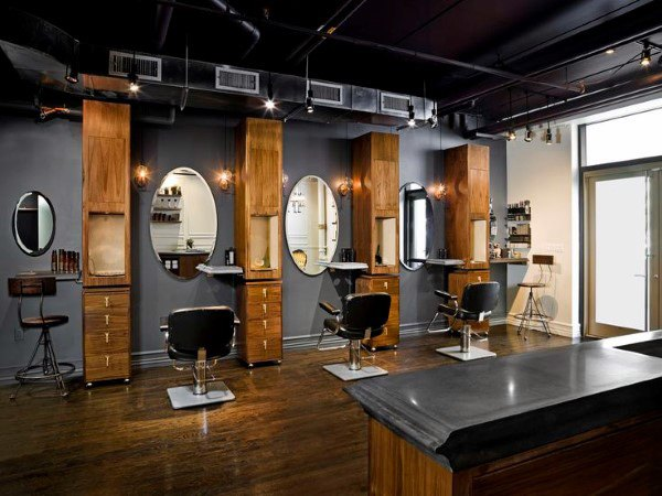 Barber Shop Contemporary Gray Design