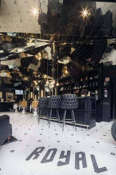 Design Barber Shop unico con barra