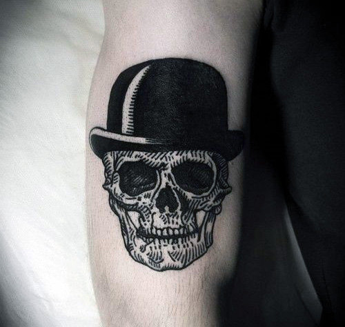 Vyrai's Skull Hat Arm Tattoo
