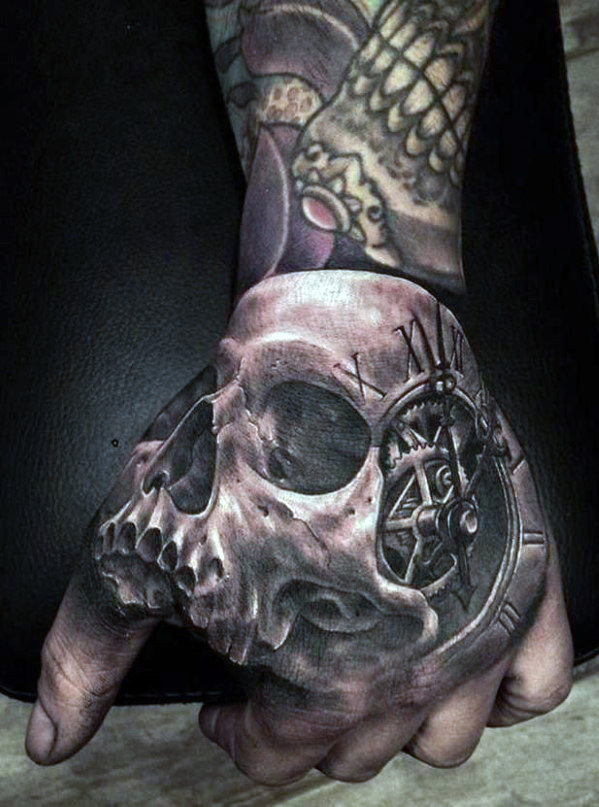 Vyrai's Hand Skull Tattoos Designs