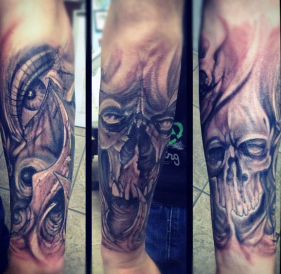 Vyrai's Forearm Skull Tattoo Ideas