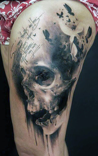 Vyrai's Arm Skull Tattoos