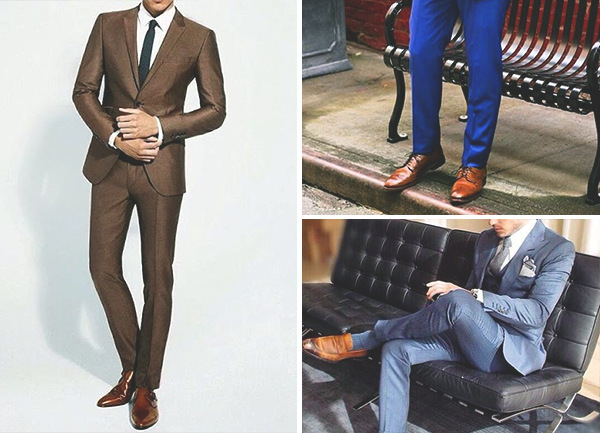 Brown Shoes su Brown Suit Mens Fashion